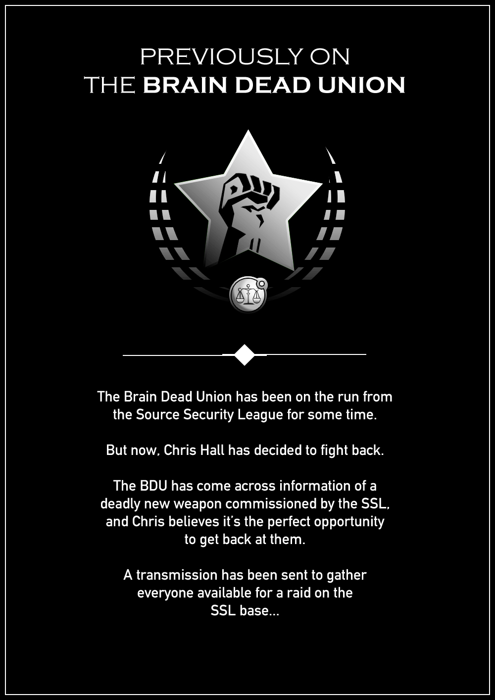 Battle of the Brain Dead Union: Mythos Page 1