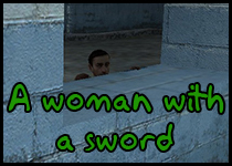 A woman with a sword