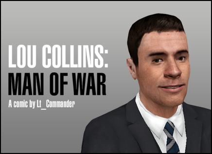 Lou Collins: Man of War Banner