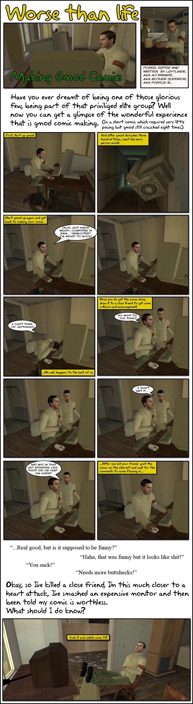 Worse than Life: Making GMod Comics